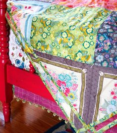 instead of the quilt - a hand tied, patchwork coverlet with an added layer of muslin or an extremely lightweight batting inside is a gorgeous and supple bedding alternative