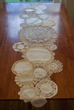 DIY Lace Doily Table Runner - Our Family Unit