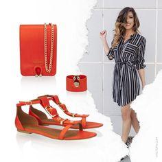 #LookDoDia com flat e muito charme! Compre rasteira + pulseira + bolsa direto no link da bio. #miezko #desconto #ootd #promo
