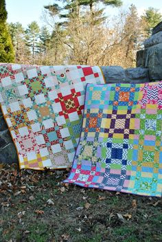 Baby, Lap or Twin PDF QUILT PATTERN...., Layer Cake, Fat Quarter and Fat Eight friendly, Crossroads. $9.00, via Etsy.