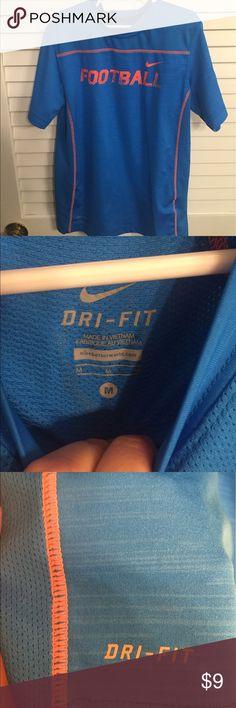 Nike Dri-Fit Blue and orange shirt EUC athletic shirt Nike Shirts & Tops Tees - Short Sleeve