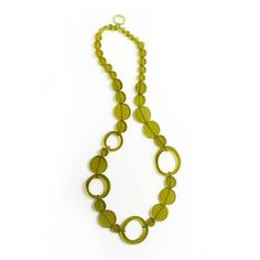 Dots Necklace Green, $45, now featured on Fab.