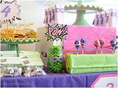Girly Super Hero Birthday Party!