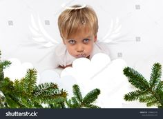 "Stock fotografie ""Angelic Adorable Child Boy Angel Wings"" (k okamžité úpravě) 1258862218 Angel Wings, Kids Boys, Halo, Children, Christmas, Cards, Image, Young Children, Xmas"