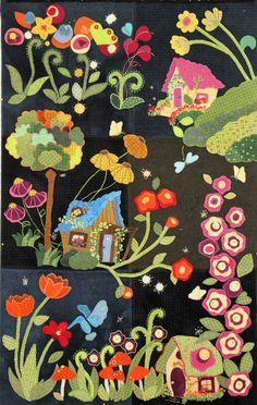 Block of the Month-My Blue Heaven Wool Applique – Trish Stuart Designs