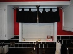 frame around window and not a big overhang over the window...idea to do in our kitchen