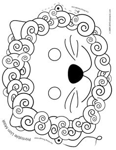 Printable Animal Masks for Halloween.