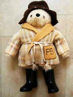 Paddington Bear in his PJ's