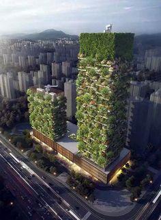 Con 200 metros de altura, la torre más alta albergará oficinas, un museo, una escuela de arquitectura verde y un Club privado en la azotea. La segunda torre, que tiene 107 metros, tendrá un hotel con 247 habitaciones y piscina en la azotea. La firma