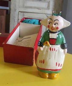 RARE TRICOTIN en terre Bécassine 1930 / Poupée Chaînette en boîte / Tricot Toy ebay