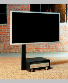 TV holder move concealed casters allow smooth and easy travel.