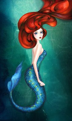 Almost all mermaids have red hair...just sayin...:)