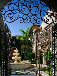 charming courtyard #CourtYard #Landscape #Outdoor ༺༺ ❤ ℭƘ ༻༻ IrvineHomeBlog.com