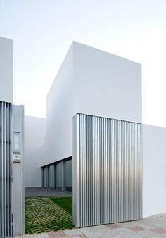 Steel building.