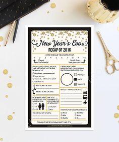 Kick off the new year with this fun party game! Perfect for New Years Eve Weddings too! This is also a great game to BRING to the New Years Eve party! • • • • • HOW IT WORKS • • • • • 1. Download the PDF 2. Print at home 3. Cut the sheets in half (crop marks provided) 4. Sit back and watch everyone laugh as they play this game! • • • • • FILE INFORMATION • • • • • - Two games print on standard 8.5x11 paper - Easily cut sheet in half (crop marks provided) - Print as many as you need! - ...