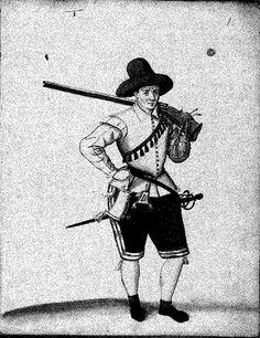 Fig. 2nd - Exercise with arquebuses (caliver) Bericht wie die juenge Schuetzen und ihre Musquetirer Rohren und zu Musqueten gebrauchen, item .. Royal Library, The Hague, MS H73 J25
