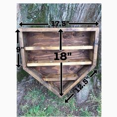 Wooden Home Plate Baseball Shelf Display Holder by SoniaNSpice - Gamer House Ideas 2019 - 2020
