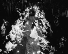 Sparkler Exit at a Charleston wedding at The William Aiken House, designed by A Charleston Bride // Photos by Charleston wedding photographer, Aaron and Jillian Photography