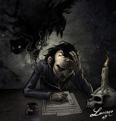 how does edgar allen poe create Writing style analysis of edgar allan poe  edgar allen poe is infamously known for his  poe manages to create entire stories with words of dark and.