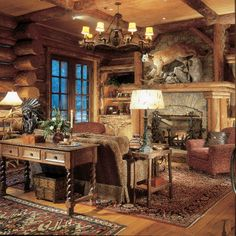 Log Home Masterbedroom Design, Pictures, Remodel, Decor and Ideas - page 17