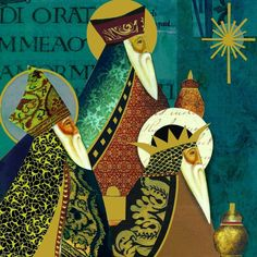 Three Kings with Elongated Beards III Ghost Of Christmas Past, Christmas Nativity, Christmas Images, A Christmas Story, Christmas Art, Winter Christmas, Vintage Christmas, Nativity Silhouette, King Painting