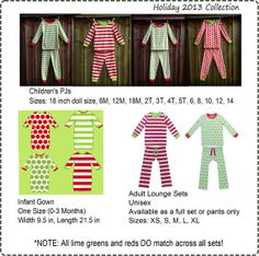 Personalized Monogrammed Christmas Pajamas by SewSouthernbyJenni, $20.00