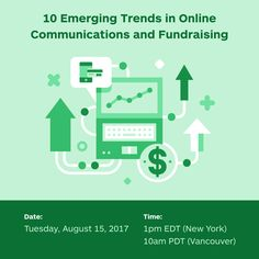 Free Webinar on August 15! 10 Emerging Trends in Online Communications and Fundraising