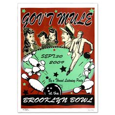 Gov't Mule Sept 2009 Brooklyn Bowl Event Poster
