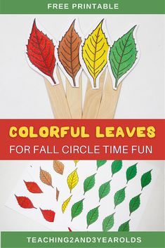 These leaf circle time props and activities are a perfect addition to your toddler and preschool fall theme, keeping young children engaged! #fall #autumn #leaves #circletime #toddlers #preschool #teachers #printable #activity #2yearolds #3yearolds #teaching2and3yearolds