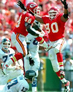 My favorite Chiefs players of all time!  What a pair!  DT & Smith!