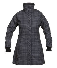 Another great find on #zulily! Black & Solid Dark Gray Plaid Mandal Coat #zulilyfinds