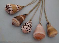 Long Hawaiian cone shell necklace - Hawaii seashell jewelry