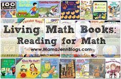 Living Math Books: Reading for Math from Mama Jenn/Great Lists of Math Books! Math For Kids, Fun Math, Math Games, Math Activities, Math Math, Maths, Math Fractions, Math Classroom, Kindergarten Math