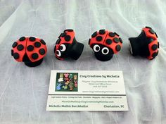 LadyBug Knobs for Cabinet Dresser Drawer Kitchen by MichelleMathis, $4.00