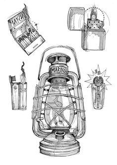 21 Oil Lamp Pencil Drawing Ideas - New Kritzelei Tattoo, Lamp Tattoo, Lantern Tattoo, Tattoo Sketches, Tattoo Drawings, Drawing Sketches, Pencil Drawings, Art Drawings, Drawing Ideas
