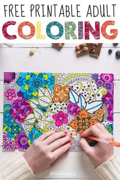 Here is a fun collection of adult coloring pages for homeschool - perfect for creative homeschool moms who also love keeping their days planned well. #free #homeschool #homeschooling #adultcoloring Bird Coloring Pages, Coloring Books, Printable Planner, Free Printables, Free Adult Coloring, Homemade Cards, Frugal, Planners, Homeschooling