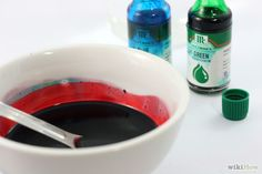Add a small amount of blue or green food coloring to achieve a more realistic shade. (Arterial blood is bright red, while venous blood is a dark maroon).