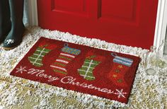What an adorable addition to your Christmas decorations this season! This festive door mat from is the perfect way to welcome in the Christmas spirit. Everyone is welcome xx My Christmas List, Christmas Hat, Xmas, Christmas Competitions, Christmas Door Decorations, Argos, Room Inspiration, Invite, Period