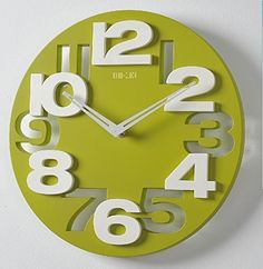 ECOOPRO® 3D Big Digital Modern Contemporary Home Office Decor Round Quartz Wall Clock Green ECOOPRO http://www.amazon.com/dp/B00PXYO8OM/ref=cm_sw_r_pi_dp_pMwUub1D6JBM1