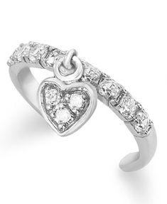 B. Brilliant Sterling Silver Toe Ring, Cubic Zirconia Dangle Heart Toe Ring (1/3 ct. t.w.)