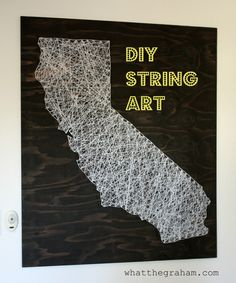 DIY String Art. Do this for any state. Such high impact art for the home.