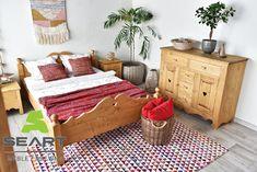 Sielska sypialnia w stylu folk