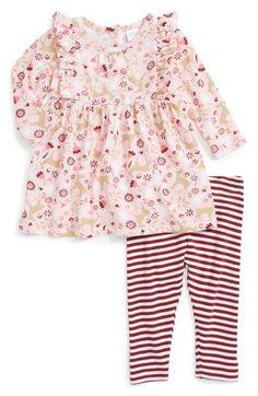 Nordstrom Baby Flutter Sleeve Dress & Leggings Set (Baby Girls)