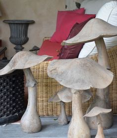 I adore these mushroom's! This is attached to a wonderful house/design blog... I'm still trying to find out about these mushrooms! If anyone finds them, can u comment below?? xo