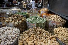 Mercado Municipal de São Paulo amendoins e castanhas