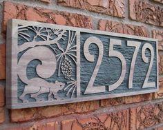 CastIronArtDecoHousenumbersign1930s1940doorplaquenumber