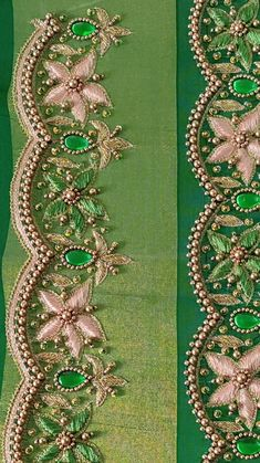 Handmade Embroidery Designs, Saree Embroidery Design, Bead Embroidery Tutorial, Hand Embroidery Design Patterns, Patch Work Blouse Designs, Maggam Work Designs, Simple Blouse Designs, Bridal Blouse Designs, Hand Work Design