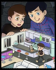 Danisnotonfire & AmazingPhil watching Dil! AWESOME!