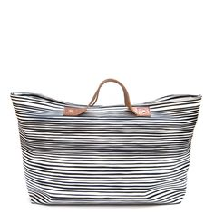 LINE WIRE TOP ZIP TOTE