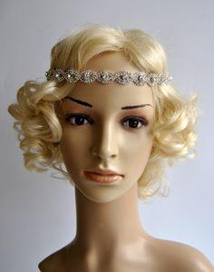 Rhinestone Headband Great Gatsby Headband by BlueSkyHorizons